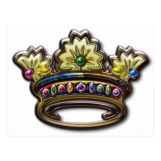 Royal jeweled crown postcard