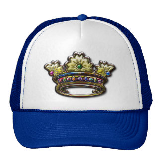 Royal jeweled crown trucker hat