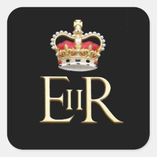 Royal Jubilee Insignia Square Sticker