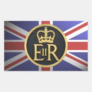 Royal Jubilee Rectangular Sticker