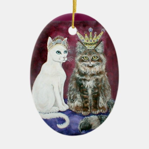 Royal King Queen Cat Christmas Ornament Zazzle