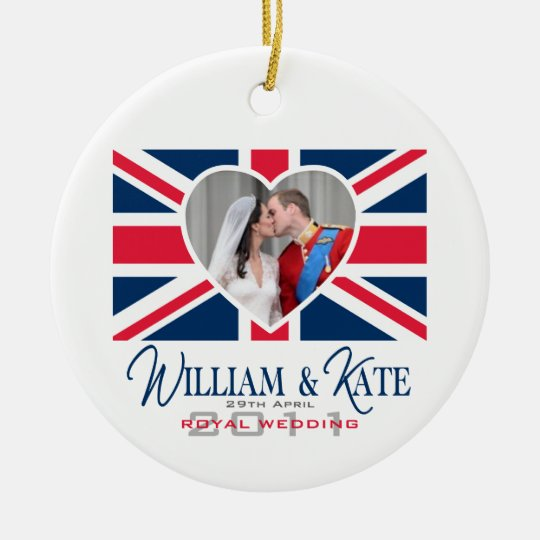 Royal Kiss - William & Kate Wedding Ceramic Ornament