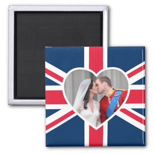 Royal Kiss - William & Kate Wedding Magnets