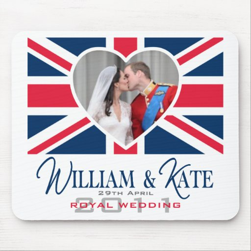 Royal Kiss - William & Kate Wedding Mouse Pad