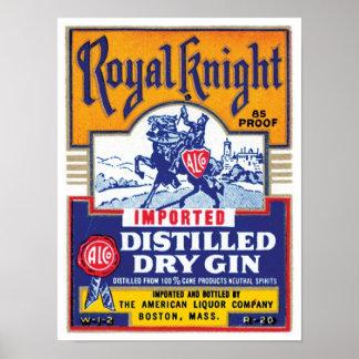 Royal Knight Distilled Gin Poster
