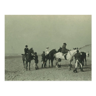 Royal ladies on beach sidesaddle #015SS Postcards