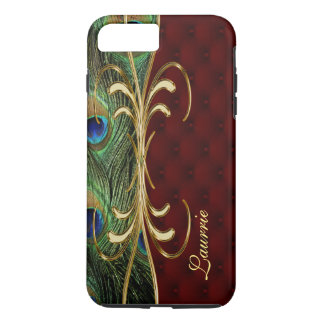 Royal Leather Peacock iPhone 7 Plus Monogram Case