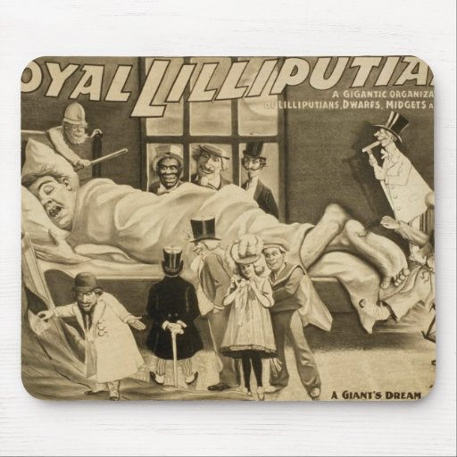 Royal Lilliputians, 'A Giants Dream' Retro Theater Mouse Pad
