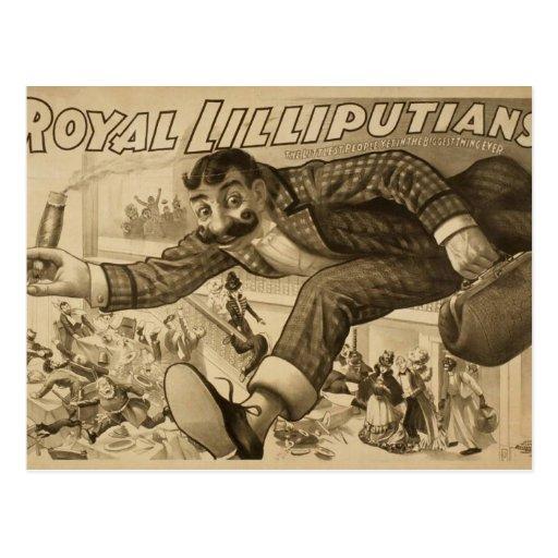 Royal Lilliputians Retro Theater Postcards