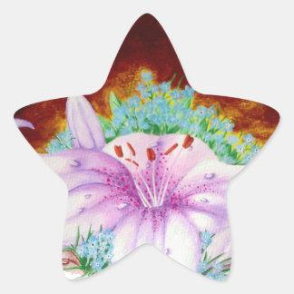 Royal lilly star sticker