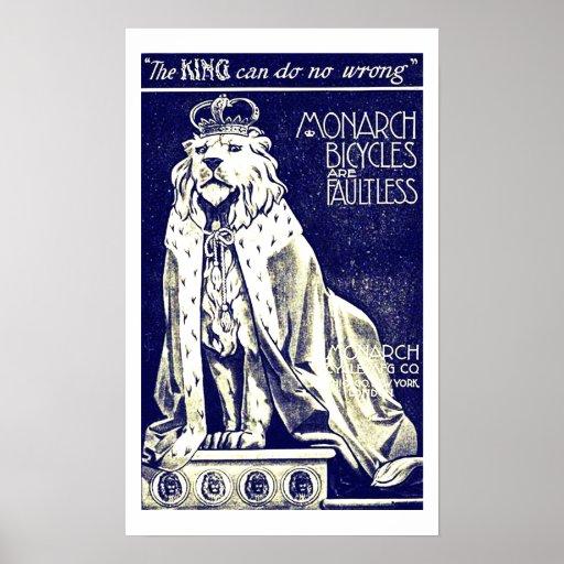 Royal Lion British Vintage Bicycle Ad Print Poster