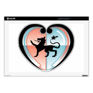 Royal lion Hearty Shield Decal For Laptop
