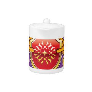 Royal Lions Shield Crown Badge Teapot