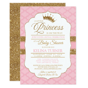 Baby girl shower invitations zazzle royal little princess pink baby shower invitation filmwisefo