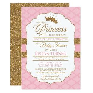 Royal Little Princess Pink Baby Shower Invitation