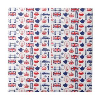 Royal London Landmarks Pattern Small Square Tile