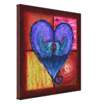 Royal Lustrous Heart Wrapped Canvas Gallery Wrapped Canvas