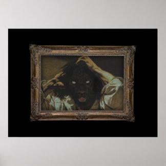 Royal Luxury Black Panther Framed Portrait Poster