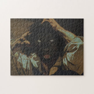 Royal Luxury Black Panther Framed Portrait Puzzle