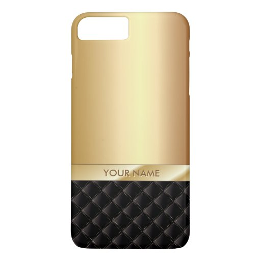 Royal luxury gold custom name iphone 7 plus case zazzle for How to customize your iphone case