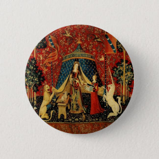 Royal Maiden and Unicorn Pinback Button