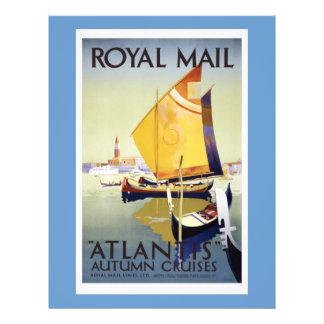 Royal Mail Atlantis Autumn Cruises Poster Flyer