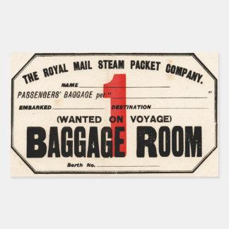 Royal Mail Steam Packet CO Pegatina Rectangular