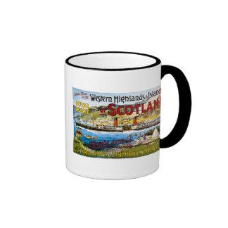 Royal Mail Steamers - Glasgow - Vintage Ringer Coffee Mug