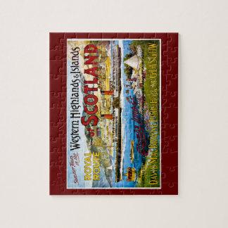 Royal Mail Steamers Scotland Glasgow Vintage Jigsaw Puzzle