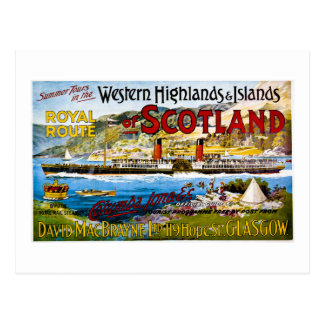 Royal Mail Steamers Scotland  Glasgow  Vintage Postcard