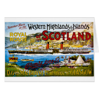 Royal Mail Steamers Vintage Travel Scotland Card