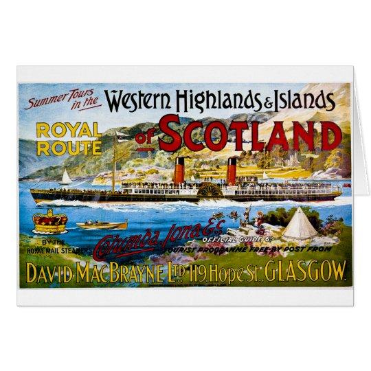 Royal Mail Steamers Vintage Travel Scotland Card
