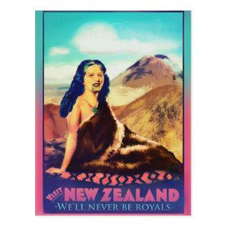 Royal Maori woman card