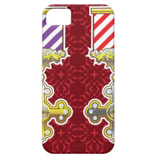 Royal Medal Vector Art Gold Silver Striped Ribbon iPhone SE/5/5s Case