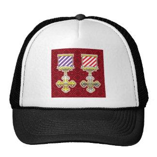 Royal Medal Vector Art Gold Silver Striped Ribbon Trucker Hat