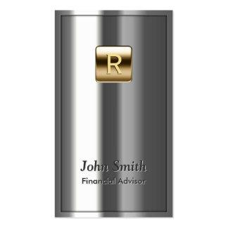 Royal Metallic Financial Advisor Business Card