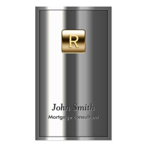 Royal Metallic Mortgage Agent Business Card