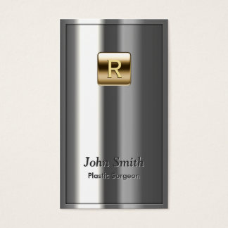 Royal Metallic Plastic Surgeon Business Card