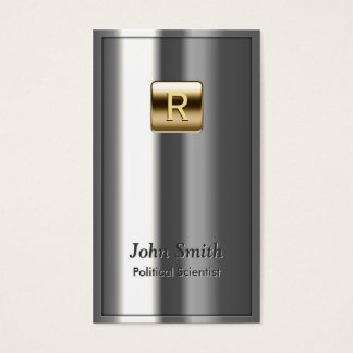 Royal Metallic Political Scientist Business Card