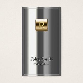 Royal Metallic Video Editor Business Card