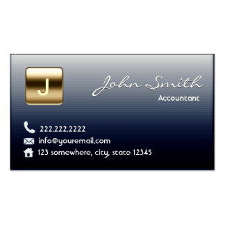 Royal Midnight Blue Accountant Business Card