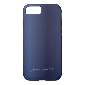 Royal Midnight Blue with Custom Name iPhone 7 case