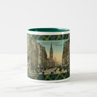 Royal Mile, Edinburgh, Scotland Campbell Crest Two-Tone Coffee Mug