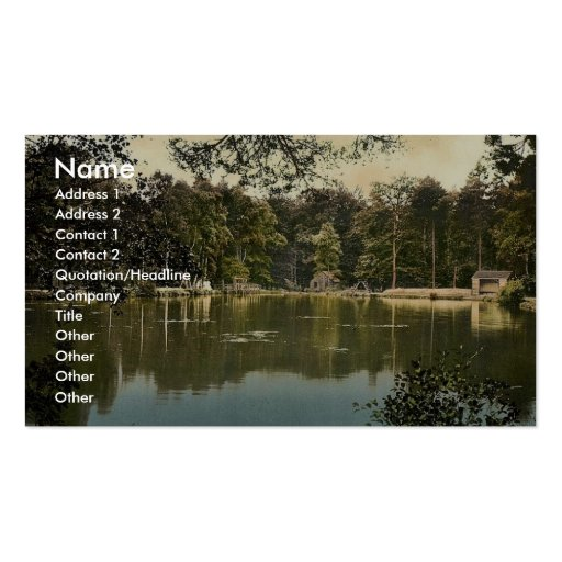 Royal Military College, bathing lake, Sandhurst, C Business Card Templates
