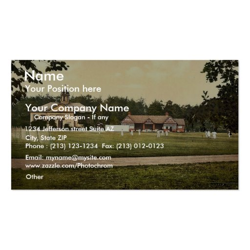 Royal Military College, cricket grounds, Sandhurst Business Card Template