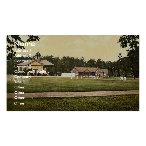 Royal Military College, cricket grounds, Sandhurst Business Card Templates