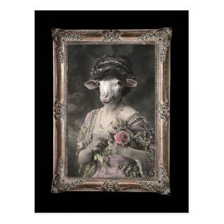 Royal Miss Sheep Framed Portrait Postcard