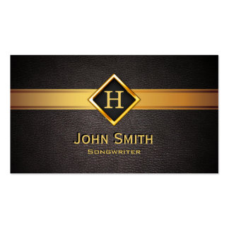 Royal Monogram Gold Label Songwriter Business Card