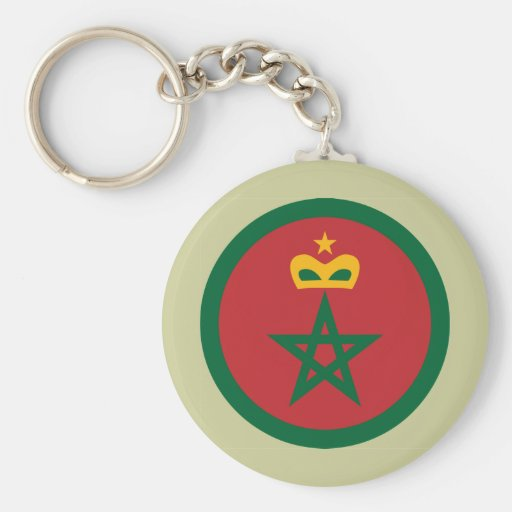 Royal Moroccan Air Force, Morocco Basic Round Button Keychain