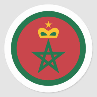 Royal Moroccan Air Force, Morocco Classic Round Sticker